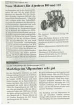 Meue Motoren fur Agrotron 100 und 105