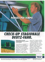 Pensateci per tempo Check -up stagionale Deutz- Fahr