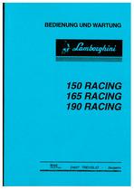 150-165-190 RACING - Bedienung und Wartung