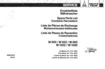 M 900-922-980-1002-1080 - Ersatzteilliste / Spare parts list / Liste de pièces de rechange / Lista de repuestos