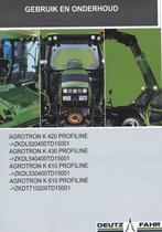 AGROTRON K 420 PROFILINE -> ZKDL520400TD15001 - AGROTRON K 430 PROFILINE -> ZKDL540400TD15001 - AGROTRON K 610 PROFILINE -> ZKDL530400TD15001 - AGROTRON K 610 PROFILINE -> ZKDT710200TD15001 - Gebruik en onderhoud