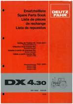 DX 4.30 - Ersatzteilliste / Spare Parts Book / Liste de pièces de rechange / Lista de repuestos