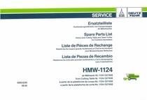 HMW-1124 - Ersatzteilliste ab Mähwerk-Nr. 1124/027408 - Spare parts list from cutting table Nr. 1124/027408 - Liste de pièces de rechange à partir de la plateforme de coupe No. 1124/027408 - Lista de piezas de recambio a partir de la plataforma de corte No. 1124/027408