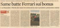Same batte Ferrari sui bonus