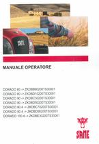 DORADO 80 ->ZKDBB90200TS30001 - DORADO 80 ->ZKDBD10200TS30001 - DORADO 90 ->ZKDBC30200TS30001 - DORADO 90 ->ZKDBD50200TS30001 - DORADO 90.4 ->ZKDBC70200TS30001 - DORADO 90.4 ->ZKDBD90200TS30001 - DORADO 100.4 ->ZKDBE30200TS30001 - Manuale operatore