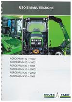 AGROFARM 410-420-430 - Libretto Uso & Manutenzione
