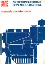 MOTORI INDUSTRIALI 982L - 983L - 984L - 986L - Manuale manutenzione