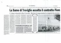 La SAME di Trevigilio accetta il contratto FIOM