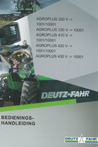 AGROPLUS 320 V ->1001/10001 - AGROPLUS 330 V -> 10001 - AGROPLUS 410 V ->1001/10001 - AGROPLUS 420 V ->1001/10001 - AGROPLUS 430 V ->10001 - Bedienings-handleiding