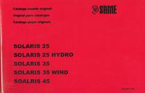 SOLARIS 25-25 HYDRO-35-35 WIND-45 - Catalogo ricambi originali / Original parts catalogue / Catálogo peças originais