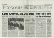 SAME-Greaves, accordo fatto