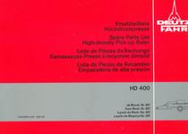 HD 400 - Ersatzteilliste / Spare parts list / Liste de pièces de rechange / Lista de piezas de recambio