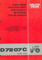 D 7207 C - Ersatzteilliste / Spare parts book / Liste de pièces de rechange / Lista de repuestos