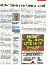 Tractor dealer sales targets raised