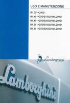 R1.35 ->20001 - R1.45 ->ZKDS1502V0ML20001 - R1.45 ->ZKDS1602V0ML20001 - R1.55 ->ZKDS1602V0ML20001 - R1.55 ->ZKDS2602V0ML20001 - Uso e manutenzione