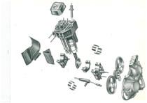 """Elementi di unificazione del motore a """" V"""" SAME"""
