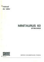 MINITAURUS 60 SYNCHRO - Manual de taller