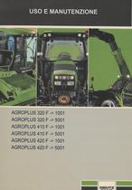 AGROPLUS 320 F ->1001 - AGROPLUS 320 F ->5001 - AGROPLUS 410 F ->1001 - AGROPLUS 410 F ->5001 - AGROPLUS 420 F ->1001 - AGROPLUS 420 F ->5001 - Uso e manutenzione