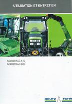 AGROTRAC 610 - 620 - Utilisation et entretien