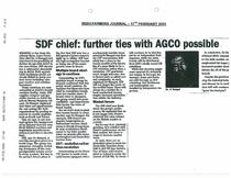 SDF chief: further ties with AGCO possible