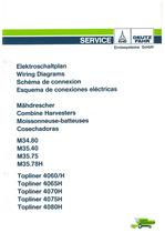M34.80-35.40-35.75-35.78H / TOPLINER 4060-4065-4070-4075-4080 H - Elektroschaltplan/Wiring diagrams/Schema de connexion/Esquema de conexiones eléctricas