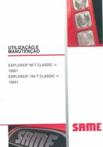 EXPLORER³ 90 T CLASSIC ->10001 - EXPLORER³ 105 T CLASSIC ->10001 - Utilização e manutenção
